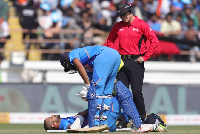 Here's why Dhawan skipped fielding against Australia