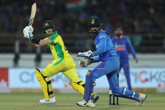 Steve Smith put on a stiff resistance with ODI debutant Marnus Labuschagne but they just could not get the momentum going in the middle overs