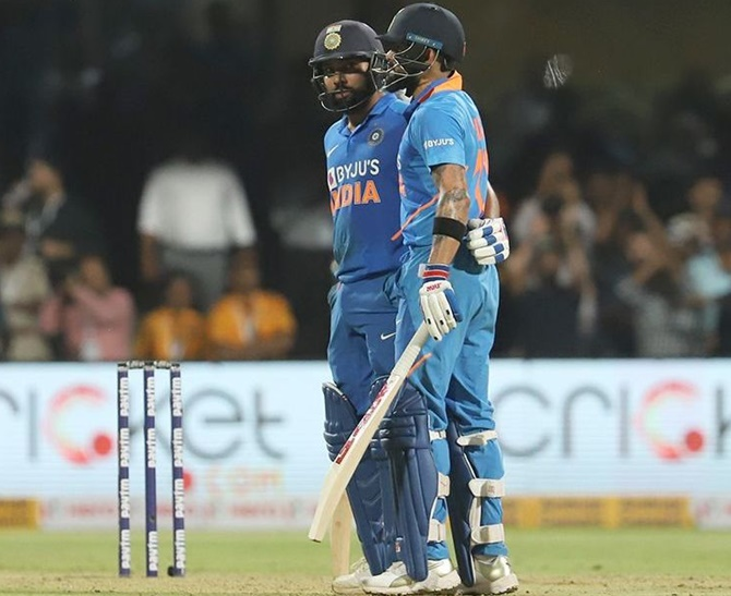 How Rohit-Kohli kept India in the chase
