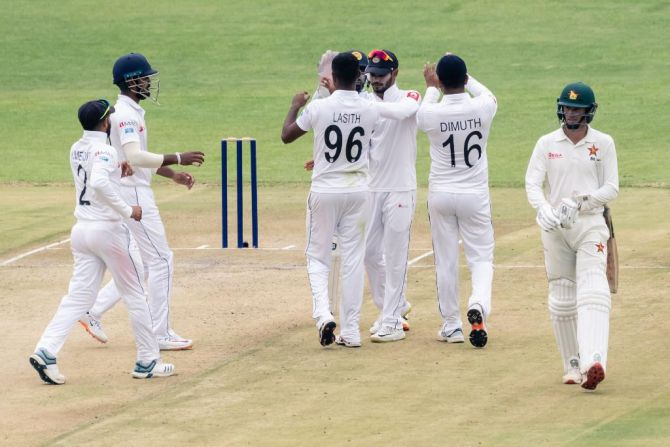 Sri Lanka toil in first Test vs Zimbabwe