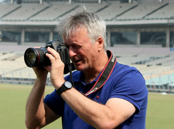 Steve Waugh back at Eden, as a photographer