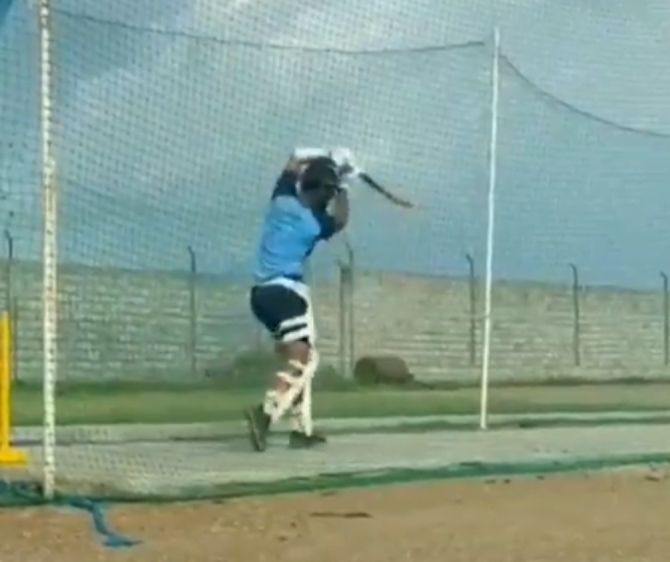 Cheteshwar Pujara got some net practice on Saturday