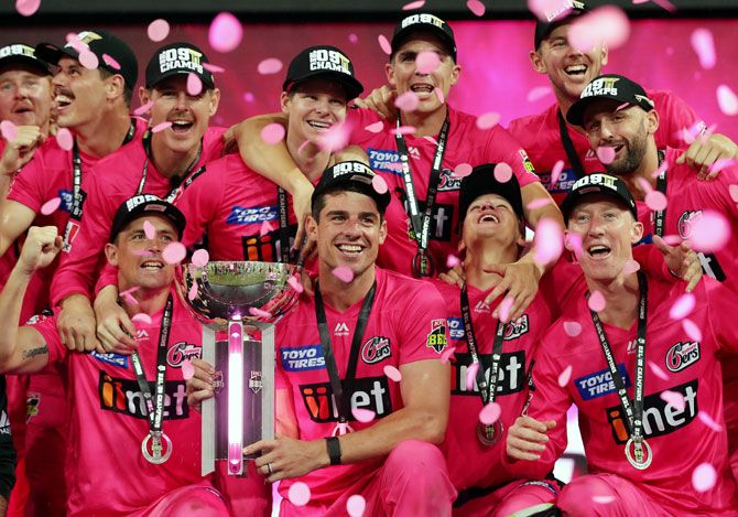 The Sydney Sixers pose with the trophy after winning the Big Bash League Final match against Melbourne Stars, in Sydney, on February 8, 2020 (Image used for representational purposes)
