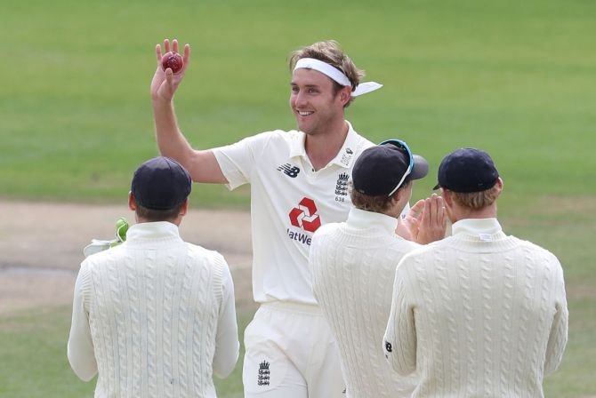 Stuart Broad finished with a match haul of 10 for 67 during which he touched the milestone of 500 Test wickets in the 3rd Test against West Indies in Manchester on Tuesday