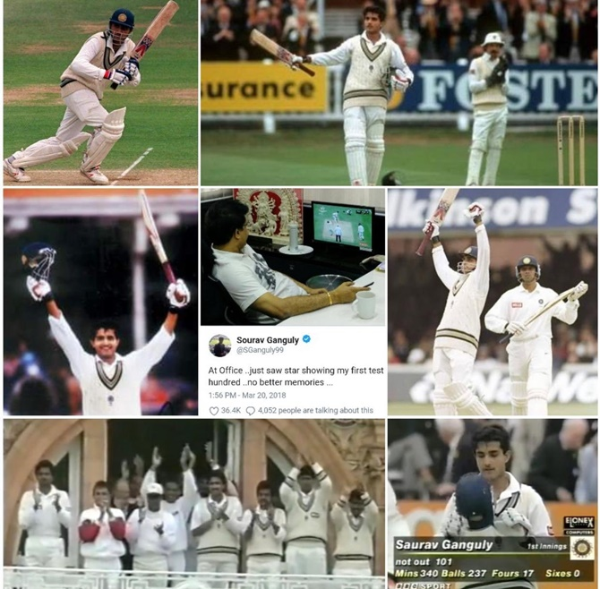 June 21, 1996: Ganguly's first Test, and he scores...