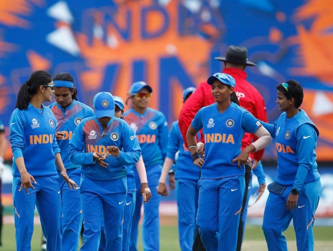 India's team at the 2020 ICC women's World Cup in Australia