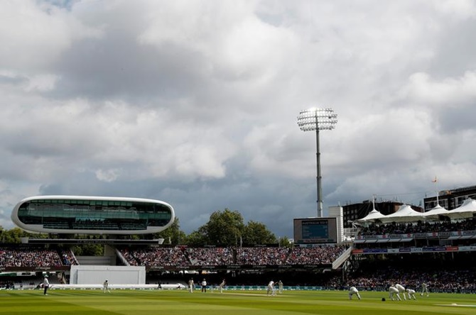 A general view of  Lord's Cricket Ground, London, during a match.