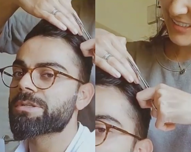 SEE: Kohli gets a haircut from Anushka in quarantine