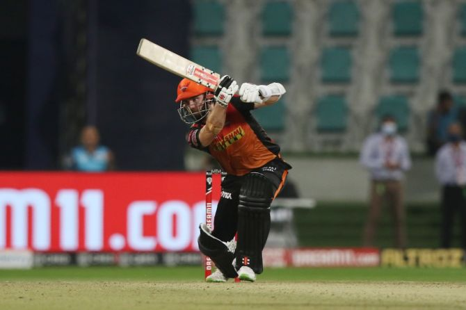 Kane Williamson bats during his 45-ball 67, which included five fours and four sixes
