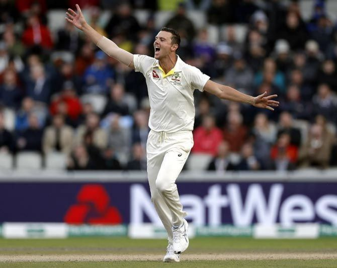 Josh Hazlewood said if they were to play at the Gabba, the fast bowlers would rather get the game out of the way before it became hotter and favoured the batsmen.