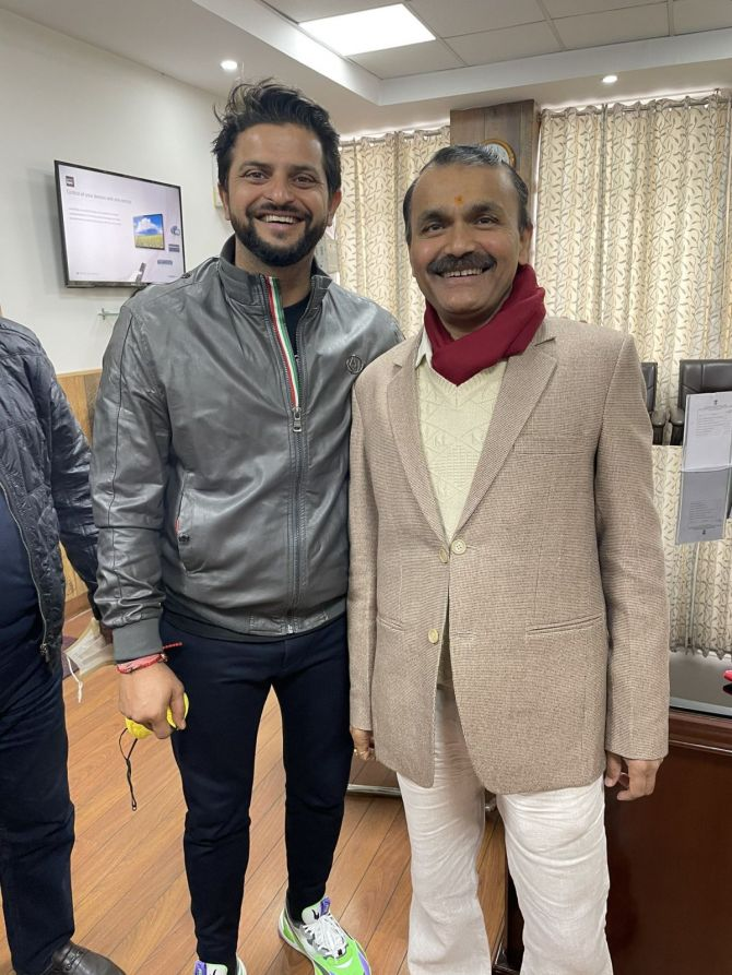 Suresh Raina after signing the MoU on Tuesday