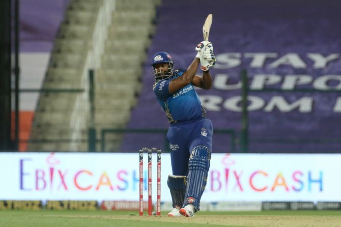 Kieron Pollard scored 47 off 20 balls against Kings XI Punjab on Thursday