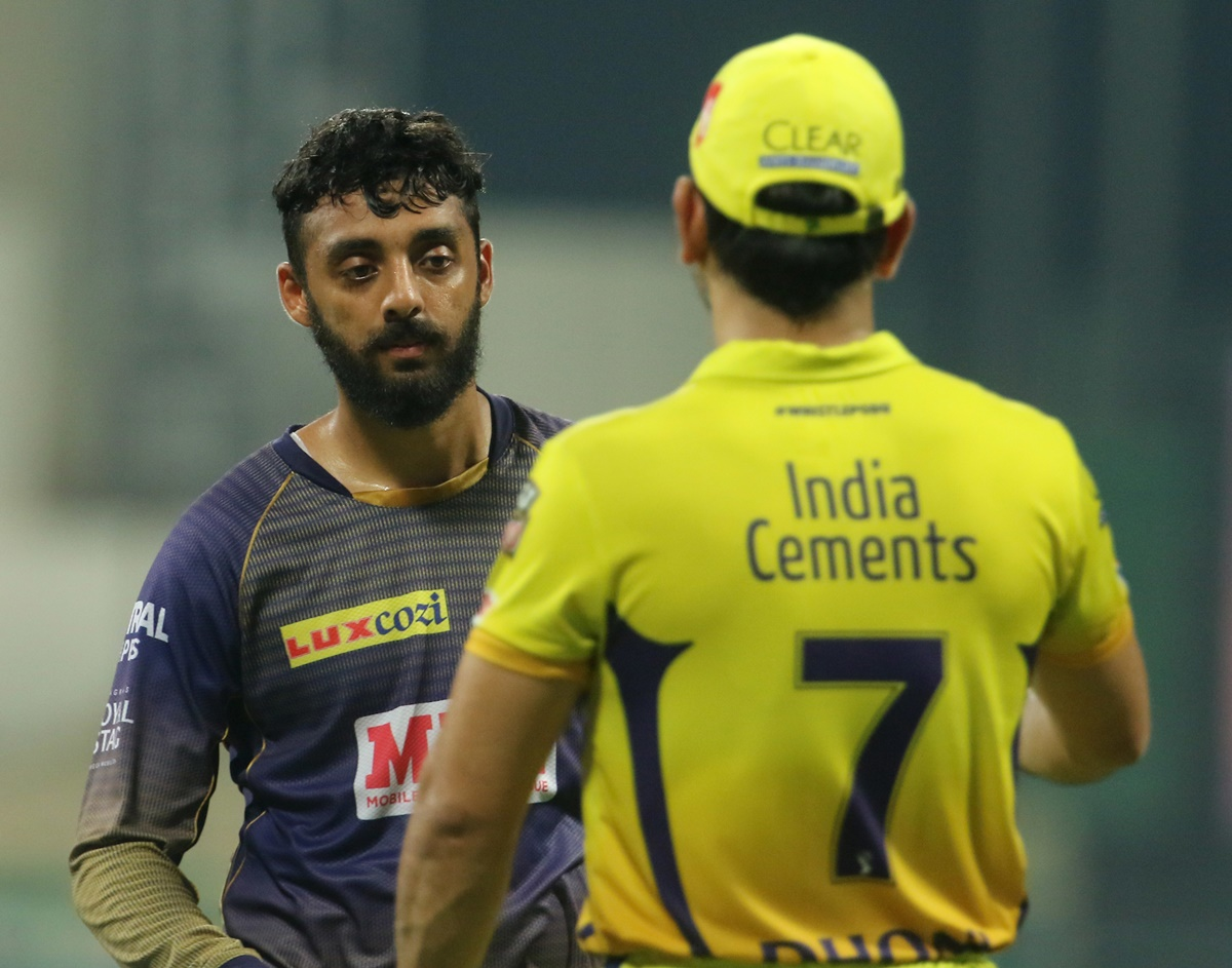 IPL 2020: Varun Chakravarthy reacts after dismissing Dhoni - Rediff Cricket