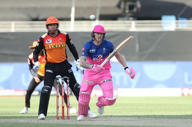 Ben Stokes played his first IPL match this season in Rajasthan Royals' win over SunRisers Hyderabad on Sunday.