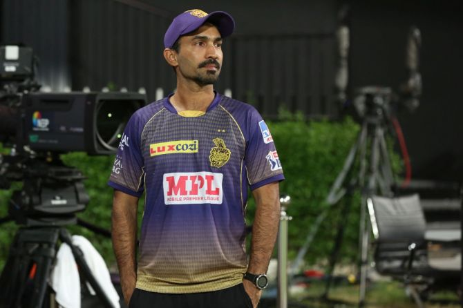 Kolkata Knight Riders' captain Dinesh Karthik