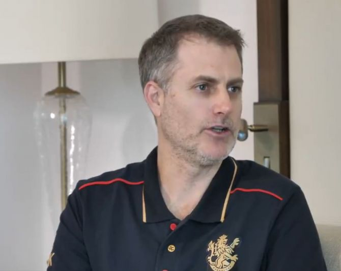 RCB head coach Simon Katich
