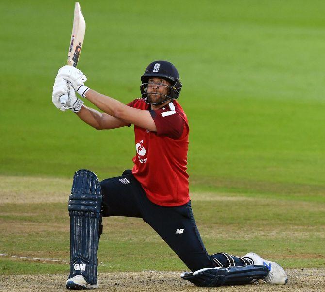 England batsman Dawid Malan scored heavily against Australia in the T20s last September