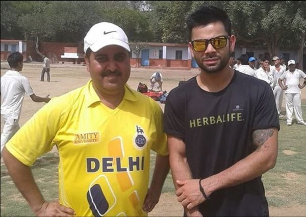 Kohli with his childhood coach