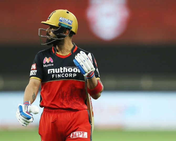 Virat Kohli scored 466 runs in 15 matches at a strike rate of 121.35 and has often struggled to get going in the middle overs.