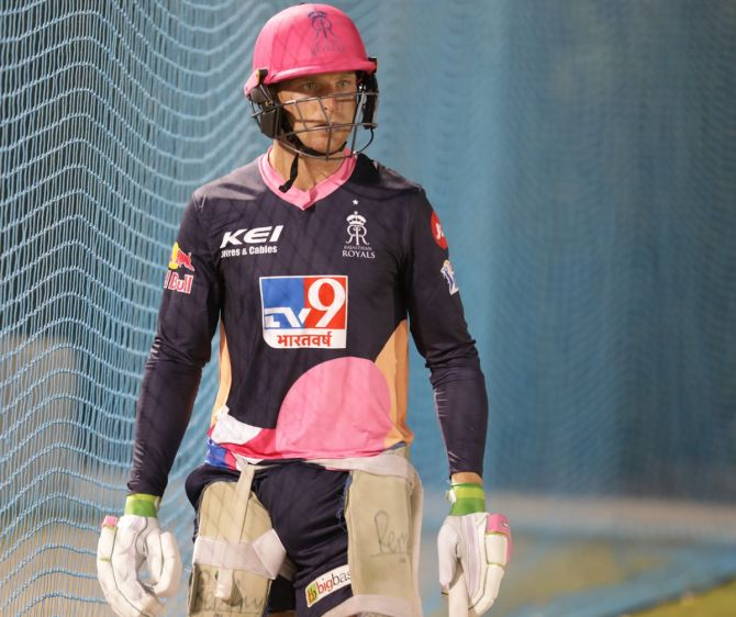 Jos Buttler plays for Rajasthan Royals in the Indian Premier League