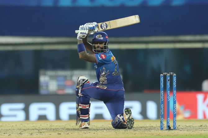 Suryakumar Yadav hit a useful 33 off 27 balls to boost Mumbai Indians