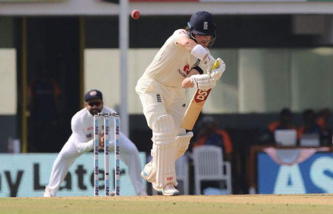 England opener Rory Burns was at easy as he negotiated the Indian pacers early in the day