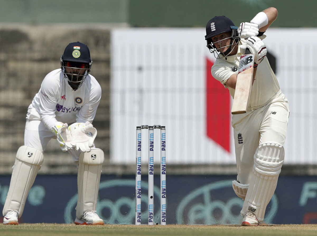 Root marks milestone with ton on Day 1