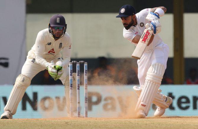 Captain Virat Kohli scored a half-century but in vain