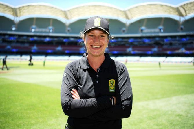 Umpire Claire Polosak was also the first woman to stand in a men's domestic fixture in Australia in her first List A match in Australia in 2017.