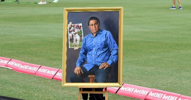 The portrait of Sunil Gavaskar was unveiled at the Bradman Museum in Bowral, near Sydney, on Wednesday