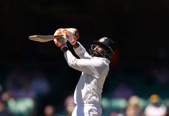 Ravindra Jadeja's gutsy knock boosted India's total considerably.