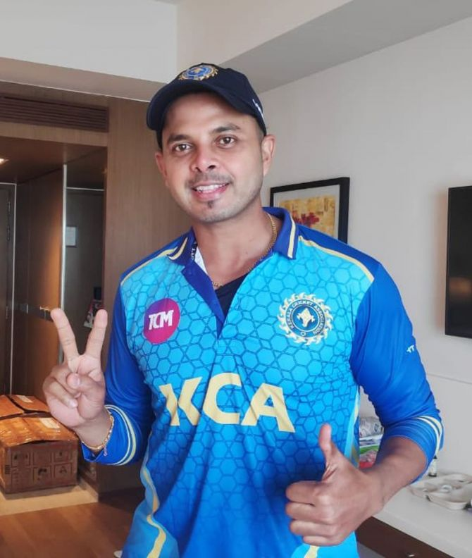 Kerala pacer Shanthakumaran Sreesanth finished with figures of 1 for 29 in Kerala's win over Puducherry