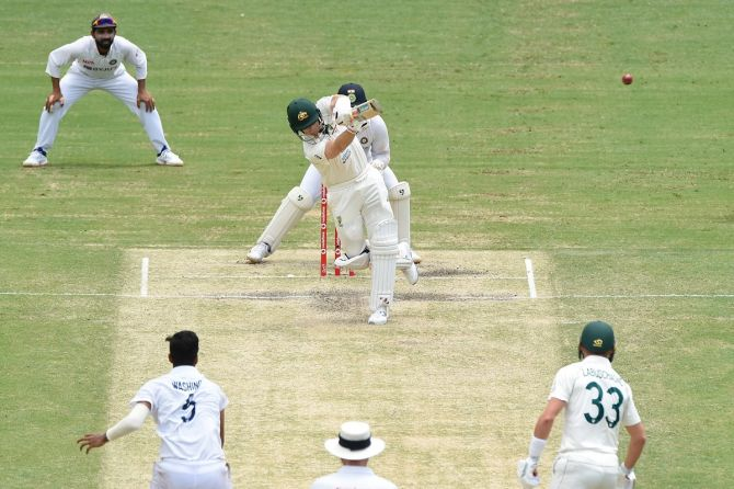 Steve Smith was aggressive from the start of his innings