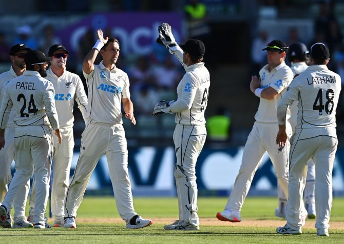 Trent Boult, who missed the first Test, has had a decent outing in the 2nd Test against England in Birmingham