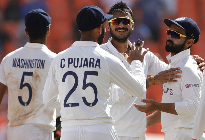 Axar Patel finished with 27 wickets in three Tests at an average of 10.59 to equal Dilip Doshi's record for the most wickets by an Indian bowler in his debut series.