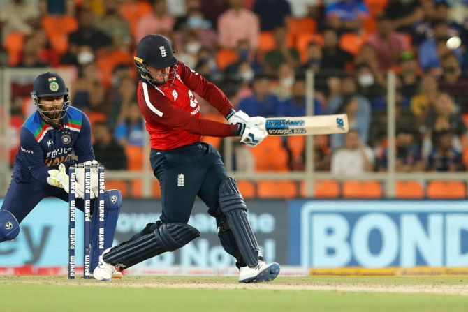 Jason Roy was England's top-scorer with 46 off 35 balls