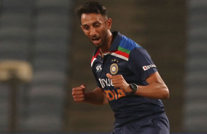 Pace bowler Prasidh Krishna took 4/54 to register the best figures by an Indian bowler on ODI debut