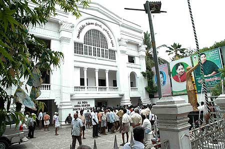 The AIADMK party office in Chennai on Saturday