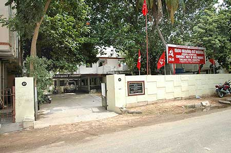 The vacant CPM office in Chennai on Saturday revealed everything