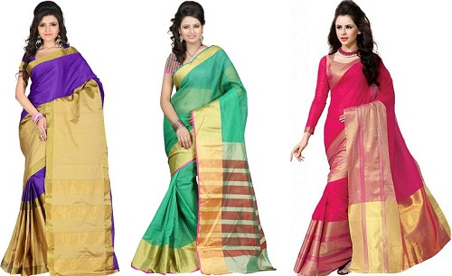 Solid Cotton Sarees