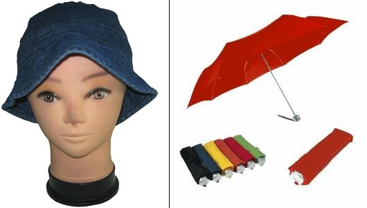 Cap and umbrella