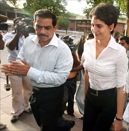 Robert Vadra with Priyanka Gandhi