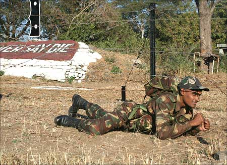 A young cadet undergoing training at the National Defence Academy, Khadakvasla