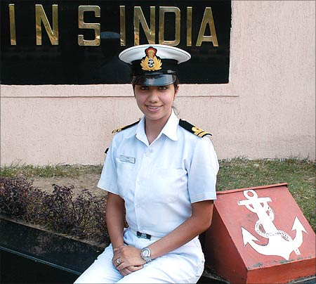 Lieutenant Rashmi says there was always an adevture streak in her and Navy was an obvious choice