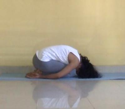 The balasana soothes anxiety.