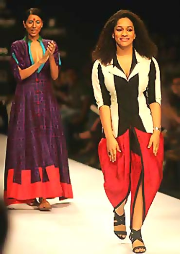 On the ramp at the Lakme Fashion Week