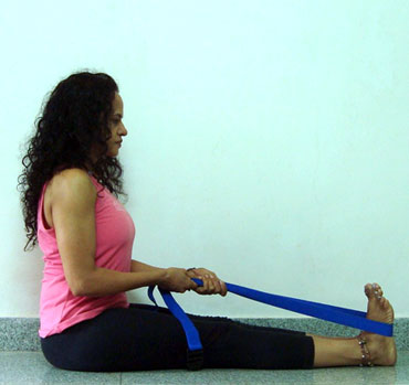 tone legs improve stamina with yoga band  rediff getahead