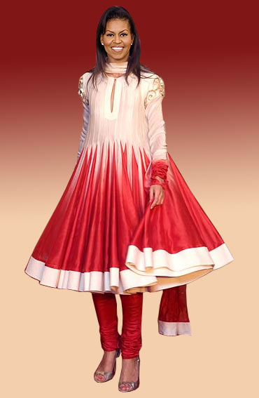 Michelle's Anarkali look