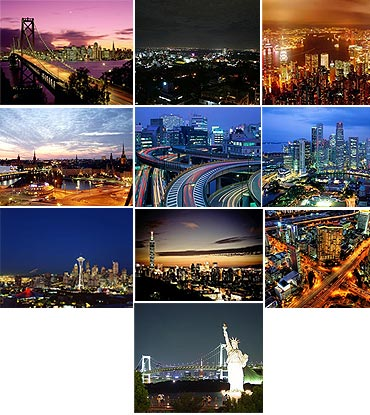 A Collage Of Top 10 Tech Cities In The World