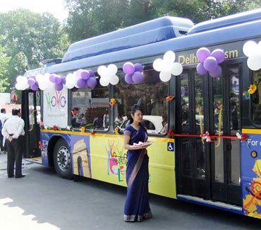 The HoHo bus is a great way to see Delhi city's best attractions.